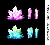 colorful set of magic cartoon... | Shutterstock .eps vector #700855327