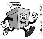ballot box running illustration | Shutterstock .eps vector #700871653