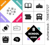 snowflakes icon.. contains such ... | Shutterstock .eps vector #700872727