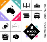 australia icon and set perfect... | Shutterstock .eps vector #700876393