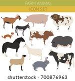 animal farming  livestock.... | Shutterstock .eps vector #700876963