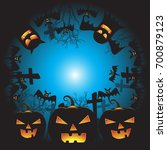 halloween background vector... | Shutterstock .eps vector #700879123