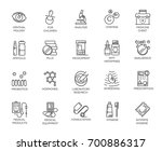 set of 20 medicine line icons.... | Shutterstock .eps vector #700886317