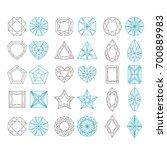 diamond shapes set. geometric... | Shutterstock . vector #700889983