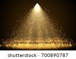 bright spotlight with falling... | Shutterstock . vector #700890787