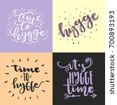 vector hand drawn trendy... | Shutterstock .eps vector #700893193