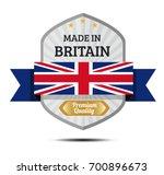 made in britain  british flag... | Shutterstock .eps vector #700896673