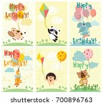 vector greeting cards with... | Shutterstock .eps vector #700896763