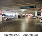 blurred image parking garage in ... | Shutterstock . vector #700898083