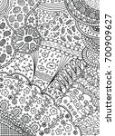 coloring page in doodle... | Shutterstock . vector #700909627