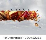 junk food health risk nutrition ...   Shutterstock . vector #700912213