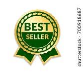 ribbon award best seller. gold... | Shutterstock .eps vector #700918687