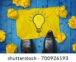 winning idea. a businessman... | Shutterstock . vector #700926193