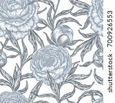 floral seamless pattern with... | Shutterstock .eps vector #700926553