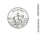 vintage vector round label.... | Shutterstock .eps vector #700934047