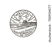 vintage vector round label. new ... | Shutterstock .eps vector #700934077