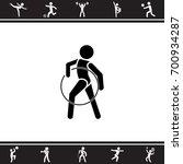 vector illustration. gymnast... | Shutterstock .eps vector #700934287