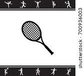 tennis racquet icon | Shutterstock .eps vector #700936003