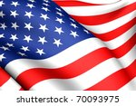 flag of usa. close up. | Shutterstock . vector #70093975