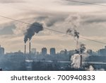 dirty pollution city  pollution ... | Shutterstock . vector #700940833