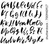hand drawn dry brush font....   Shutterstock .eps vector #700940917