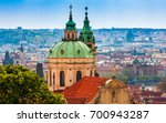 prague is the capital of the... | Shutterstock . vector #700943287