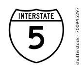interstate highway 5 road sign. ... | Shutterstock .eps vector #700945297