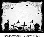 halloween creepy vector frame | Shutterstock .eps vector #700947163