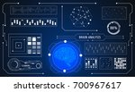 hud futuristic brain analysis... | Shutterstock .eps vector #700967617