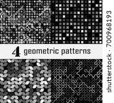 set of four seamless geometric... | Shutterstock .eps vector #700968193