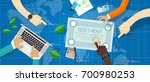 iso 14001 environmental... | Shutterstock .eps vector #700980253