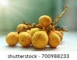 isolated thai fruit longkong...   Shutterstock . vector #700988233