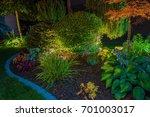 elegant backyard garden led... | Shutterstock . vector #701003017