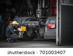truck service technician job.... | Shutterstock . vector #701003407