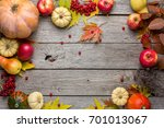 autumn background with yellow... | Shutterstock . vector #701013067