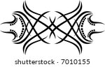 calligraphical figures created... | Shutterstock . vector #7010155