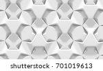 white abstract hexagonal... | Shutterstock . vector #701019613