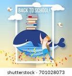 back to school 1 september card....   Shutterstock .eps vector #701028073