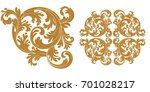 set of vintage baroque ornament ... | Shutterstock .eps vector #701028217