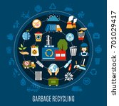 garbage recycling circle... | Shutterstock .eps vector #701029417