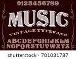 font script typeface vector... | Shutterstock .eps vector #701031787