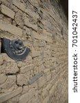 Stock photo the shinto trinity in old wall tenryu ji temple kyoto japan 701042437