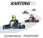 kart competition   karting ... | Shutterstock .eps vector #701042587