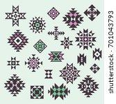 vector ethnic design elements.... | Shutterstock .eps vector #701043793
