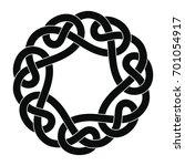celtic national ornament in the ... | Shutterstock .eps vector #701054917