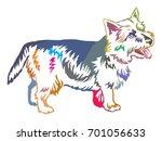 colorful decorative portrait of