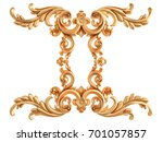 gold ornament on a white... | Shutterstock . vector #701057857