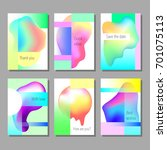 set of artistic colorful... | Shutterstock .eps vector #701075113