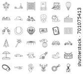 children icons set. outline... | Shutterstock .eps vector #701075413