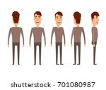set of male characters. man ... | Shutterstock . vector #701080987